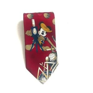 Disney Mickey Unlimited Red Tie